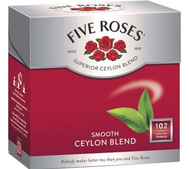 Picture of Five Roses Smooth Ceylon Blend Tagless Tea Bags