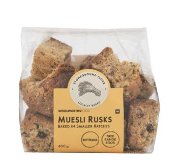 Picture of Woolworths Homestyle Muesli Rusks